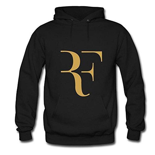 Congjun Shen Roger Federer Logo Custom Mens And Womens Sweatshirt Hoodie Large Black