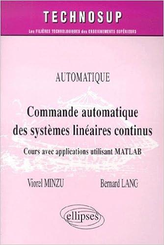 Amazon Fr Commande Automatique De Systemes Lineaires