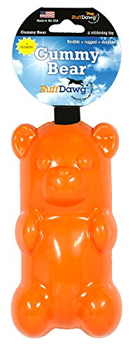 (Ruff Dawg Gummy Bear Rubber Dog Toy Assorted Neon Colors)