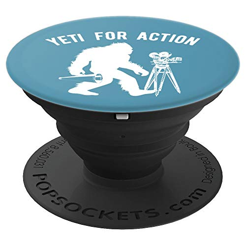 (Yeti Film Director Mountain Ape Directing - PopSockets Grip and Stand for Phones and Tablets)