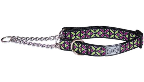 RC Pet Products 3/4-Inch Training Martingale Dog Collar, Medium, Berry Mojito