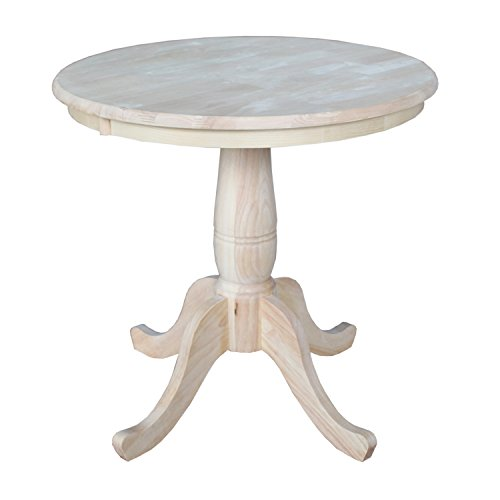 Wood Round Pedestal (International Concepts Round Top Pedestal Table, 30-Inch)