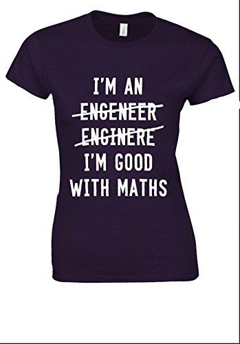 生じる交換重くするI'm An Engineer I'm Good At Maths Novelty White Women T Shirt Top