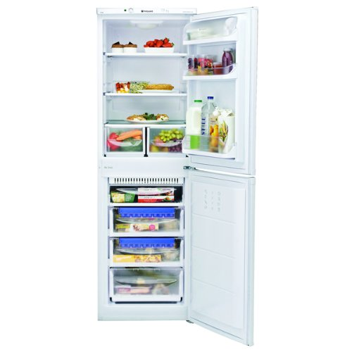 HOTPOINT HBNF5517W Aquarius 225L 50/50 Frost Free Freestanding Fridge Freezer - White