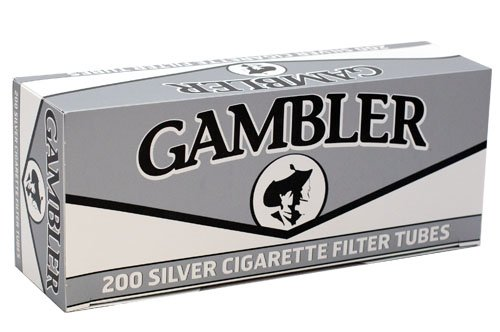 (Gambler Silver King Size RYO Cigarette Tubes 200ct Box (5 Boxes))