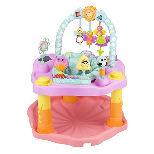 Evenflo ExerSaucer Activity Center, Double Fun Bumbly, Pink -