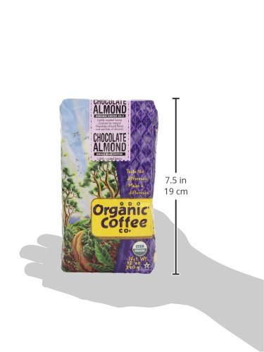 The Organic Coffee Co. Whole Bean, Chocolate Almond, 12 Ounce