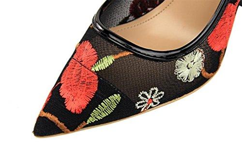 Oficina Tacones Partido Boda Las Zapatos Sandalias Bride Se Datan eu38 Clsicas De Corte Muchachas Pumps Los Del Princesa La Mujeres Oras Que red Altos Lujo Bordar 87OqX