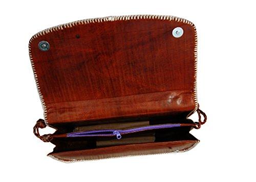 Borsa vera pelle di spalla, borsa, sacco per cadaveri trasversale per le donne, signore, ragazze - a mano