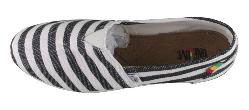 Bob Marley Rita Canvas Stripes Zwarte Schoen