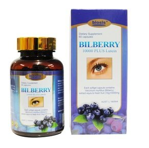 Biosis Natural Bilberry Powder Capsules Bilberry Extract 10000mg Plus Lutein High Strength Eye Support Formula 60 Capsules - Antioxidant - Helps With Red Eyes, Black Eyes Circle …
