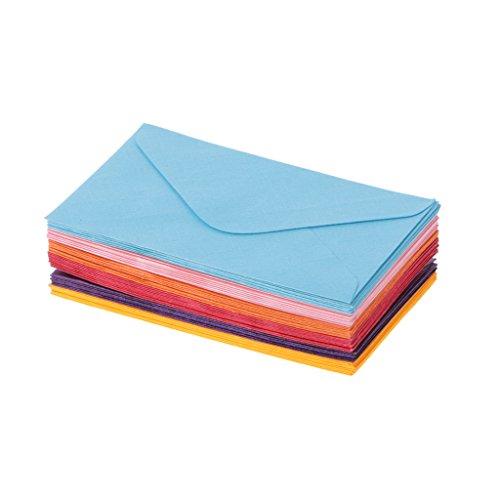 Party Invitation Greeting Card (Seaskyer 50Pcs Retro Blank Mini Paper Envelopes Wedding Party Invitation Greeting Cards Gift (Mixed Color))