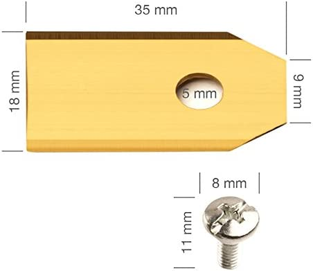 ECENCE Hojas de repuesto tipo cuchillas de acero inoxidable para ...