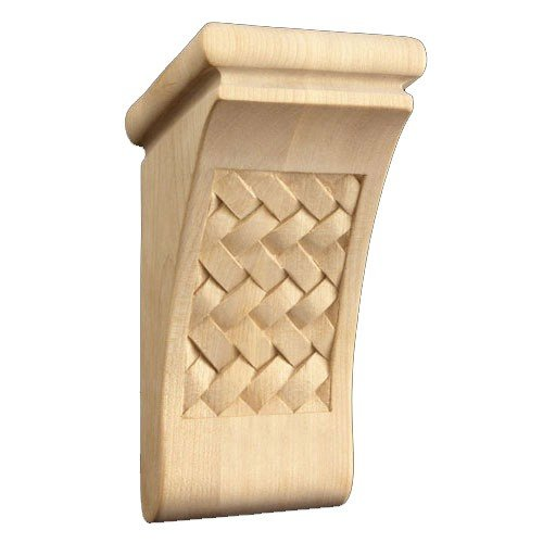 Brown Wood Inc. 01602070HM1 Full Weaved Decorative Wood Corbel, Hard Maple