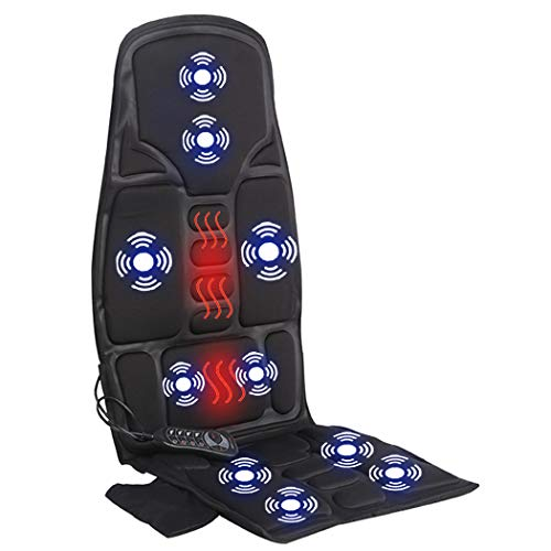 Car Seat Massager, Sotion Chair Massager, Back Massager Chair Pad Cushion with Heat, Vibrating & Heating Therapy to Relieve Stress and Fatigue for Back, Shoulder and Thighs