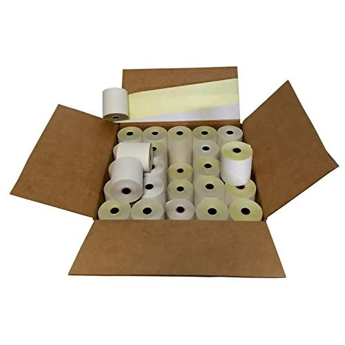 "Discount 3"" x 95' 2 Ply White/Canary Paper Rolls for TM-U220A TM-U220B TM-U220D TM-U230 free shipping"