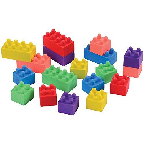 Cube Puzzle Eraser, 3 Styles Mini Colorful Geometric 3D Shape Cube Puzzle Pencil Rubbers Building Blocks Erasers Photo #2