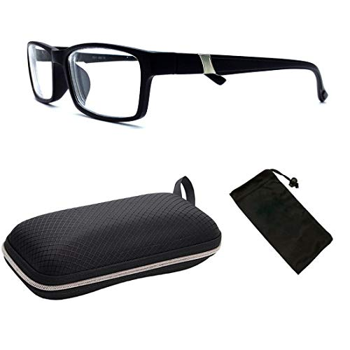 (Fashion Men & Women Unisex Myopia Eyeglasses Short Sighted + Free Hard Case)