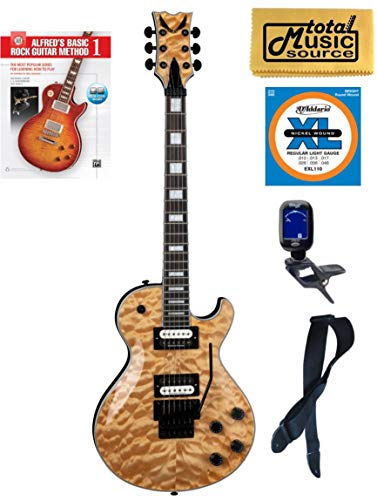 (Dean TB SEL F QM GN Thoroughbred Select Quilt Top FR Electric Guitar, Book Bundle)