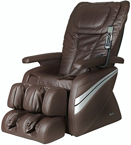 Osaki OS1000B Model OS-1000 Deluxe Massage Chair, Brown, 5 Easy to Use Preset Auto Program, 4 Massage Types, Intelligent 4 roller system, Reclines to 170 degrees, Adjustable air massage