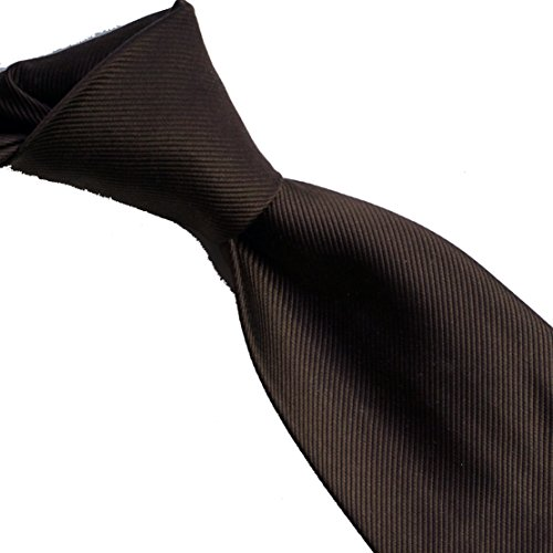 woven MINI pure Coffee solid 100 neckties RIB silk qEq1A