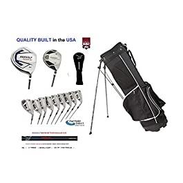 AGXGOLF Mens XS Golf Club Set; Choose Length; 460Ccc Graphite Driver, 3 Wood, 3-9 Irons, PW+SW, Putter+Stand Bag Right Hand
