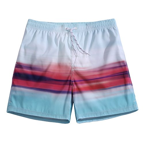 Men's Swim Trunks Quick Dry Board Shorts Bathing Suits Skyline Large