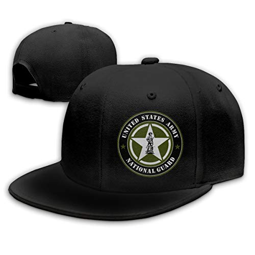 United States Army National Guard Hat Hip Hop Snapback Baseball Cap Black