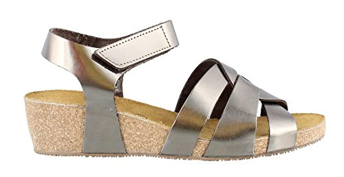 Eric Michael Womens, Millie Wedge Sandal Pewter