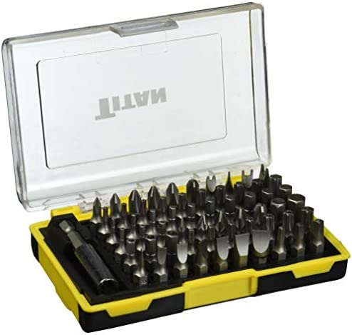 TITAN 61 PIECE SCREWDRIVER BIT SET 16061