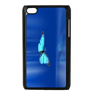 -ChenDong PHONE CASE- FOR IPod Touch 4th -Butterfly - Flowers-UNIQUE-DESIGH 2
