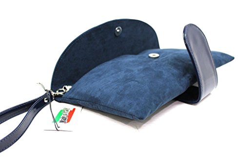 Borsetta donna Annaluna pochette l.elegante 004 blu made in Italy