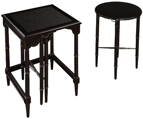 Asian Traditional Table (Sterling 6003205 Melbourne Traditional Asian Hardwood Nesting Tables, 24-Inch, Ebony)