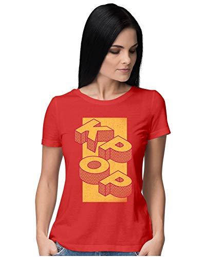 Heybroh Women's Regular Fit T-Shirt K-POP 100% Cotton T-Shirt