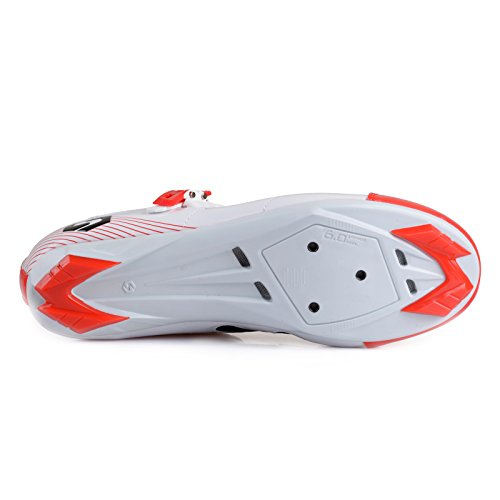 Red All White Shoes 001 Men's II Smartodoors Road W SD Road Cycling Women's and MTB SIKEBIKE and XR4ZpqH
