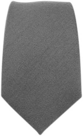 The Tie Bar Gray Solid Wool 2 Inch Skinny Tie