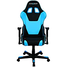DXRacer Formula Series OH/FD101/NB Racing Seat Office Chair Gaming Ergonomic adjustable Computer Chair with - Included Head and Lumbar Support Pillows (Black, Blue)