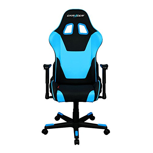 DXRacer Formula Series OH/FD101/NB Racing Seat Office Chair Gaming Ergonomic Adjustable Computer Chair with - Includes Head and Lumbar Support Pillows (Black/Blue)