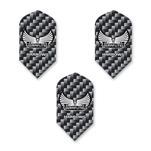Gray Darts - Harrows Graflite Slim Shape Dart Flights, Gray