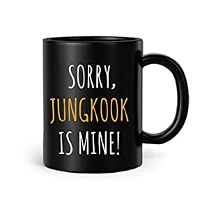 FMstyles Sorry, Jungkook is mine BTS Black Matt Mug - FMS289