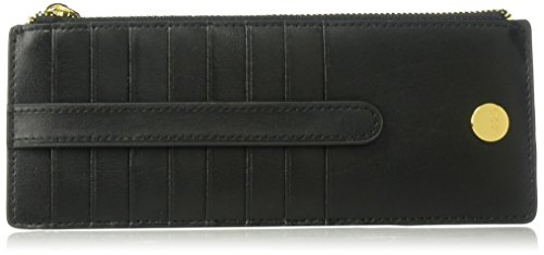 Lodis Women's Rodeo RFID Credit Card Case with Zipper Pocket, black, One Size