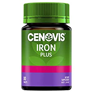 Cenovis Iron Plus - Iron Tablets - Assists iron absorption - Supports energy levels - Relieves fatigue