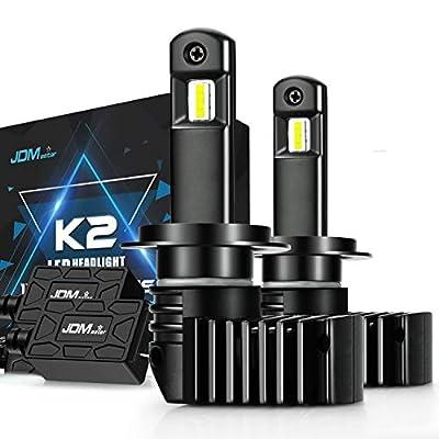 JDM ASTAR K2 High Performance 1:1 Design H7 Bright White Light Output Upgrade Vision LED Headlight Bulbs: Automotive