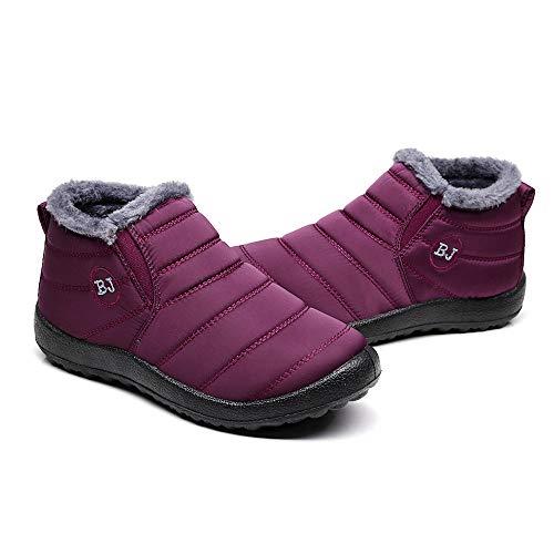 Chaudes Chaussures Hiver Fourrées À Binggong Bottes Boots Fourrure Chaussons Bottines Femme Ville Neige Cheville Chaude Vin Imperméables Plats Du Avec Talons Homme f6g06
