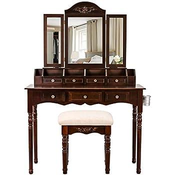 Amazon Com Vanity Table Set Sunix Vanity Dressing Table