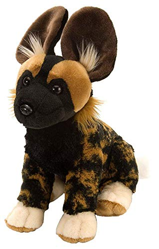 Wild Republic African Wild Dog Plush, Stuffed Animal, Plush Toy, Gifts for Kids, Cuddlekins 12 Inches (Rasta Banana Stuffed Animal)