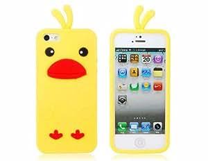 Forma Chicken funda de silicona protectora para el iPhone 5 (Amarillo)