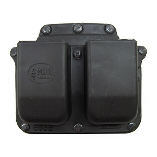 Belt Fobus Pouch - Fobus  Belt 6936BH Double Mag Pouch Universal 9mm/.40 Dbl. Stack, SWMP .45 cal