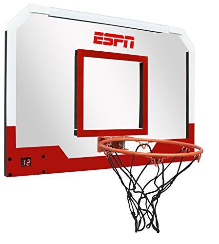 Medal Sports ESPN Pro Basketball Door Hoop with LED Electronic Scoring   (Houston Hoops Basketball)