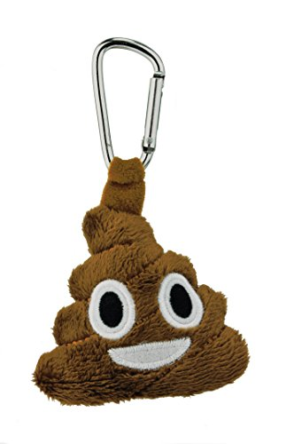 Kids Preferred Emoji Backpack Clip, Poo